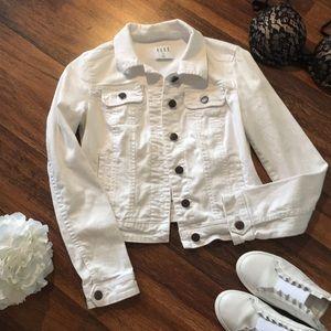 Elle white denim jacket XS